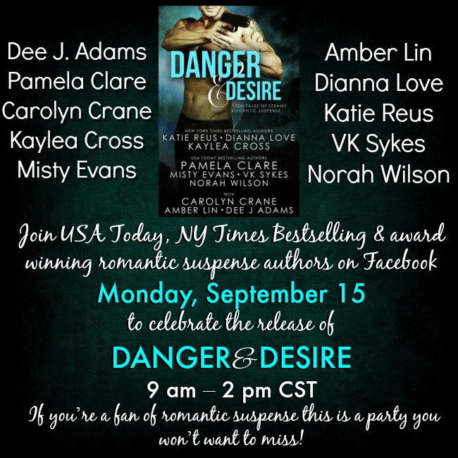 Danger & Desire Facebook Party! – Vanessa Kelly, Author